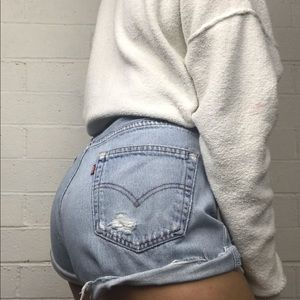 • Vintage Levi's 501 High Waisted shorts
